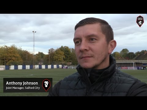 Sutton Coldfield Town 0-2 Salford City – Anthony Johnson post-match interview 17.10.15