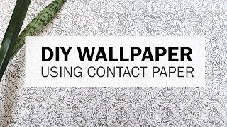 How to Apply Wallpaper Using Contact Paper!