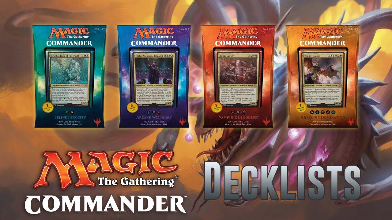 Commander 2017 Decklists