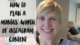 How to plan a month's worth of Instagram content - #BlogFixFriday BLOGGING TIPS #vlogmas16