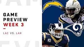Los Angeles Chargers vs. Los Angeles Rams | Week 3 Game Preview | Move the Sticks