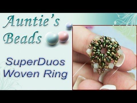 Karla Kam - SuperDuos Woven Ring
