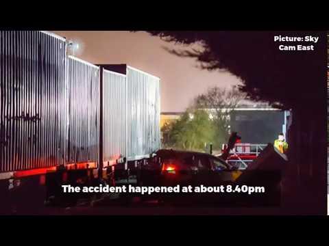 Crash between freight