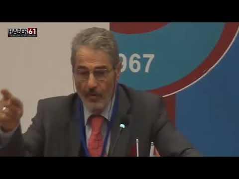 Enerji Bakanı Berat Albayrak'ın Babası Sadık Albayrak, Trabzonspor Divan Toplantısında Konuştu