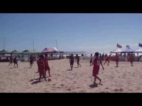 Thailand Team, Aust Beach Soccer Cup, North Wollongong Beach, N.S.W., Australia. 8th December, 2013.