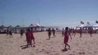 Thailand Team, Aust Beach Soccer Cup, North Wollongong Beach, N.S.W., Australia. 8th December, 2013.