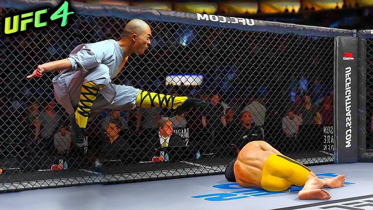 UFC4   Bruce Lee vs. Master Wing-Chun (EA sports UFC 4) - rematch