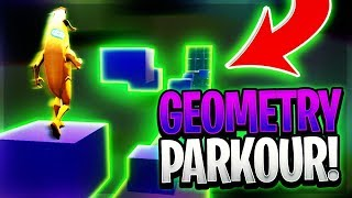 The IMPOSSIBLE Geometry Dash Fortnite DEATHRUN - Geometry Parkour by Gamerzhits (Creative Map Code)