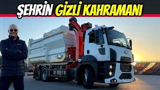 İŞ MAKİNALARI | Ford Trucks 2633 Çöp Kamyonu | 6x2 - Dümenlenebilir Arka Aks - Otomatik Şanzıman