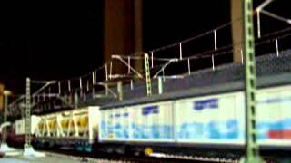Europe Rail  Modelrailroad Modelleisenbahn HO  bls Re485    Güterzug durchfahrt DB Bf