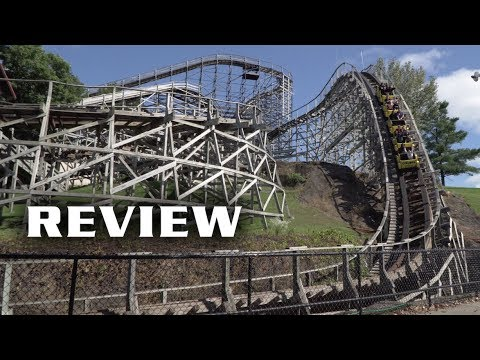 Cyclops Review Mt. Olympus Theme Park CCI Wooden Roller Coaster