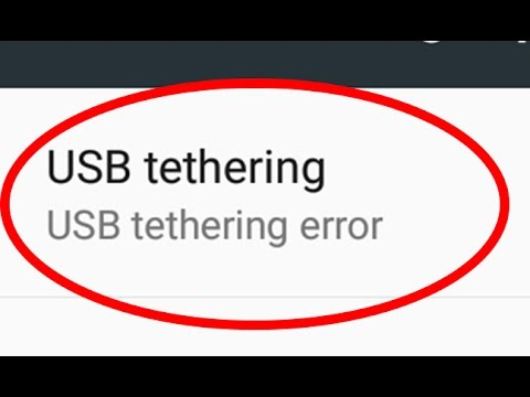 How to fix USB tethering error in Android|Tablet