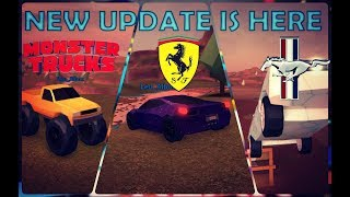 Roblox Jailbreak - New Cars | Ferrari, Mustang, Monster Truck | Showcase