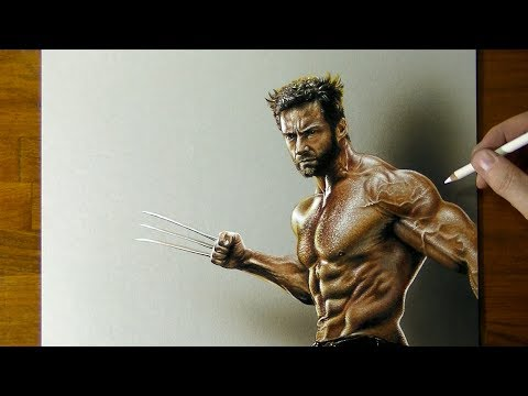 Drawing Wolverine Hugh Jackman by Marcello Barenghi