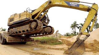 Video Excavator climbing onto Truck ❤️ Excavator videos for children ✔️ download MP3, 3GP, MP4, WEBM, AVI, FLV Oktober 2018