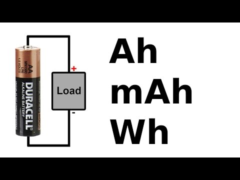Battery amp-hour, watt-hour and C rating tutorial