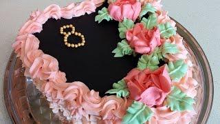 бисквитный торт - сердце