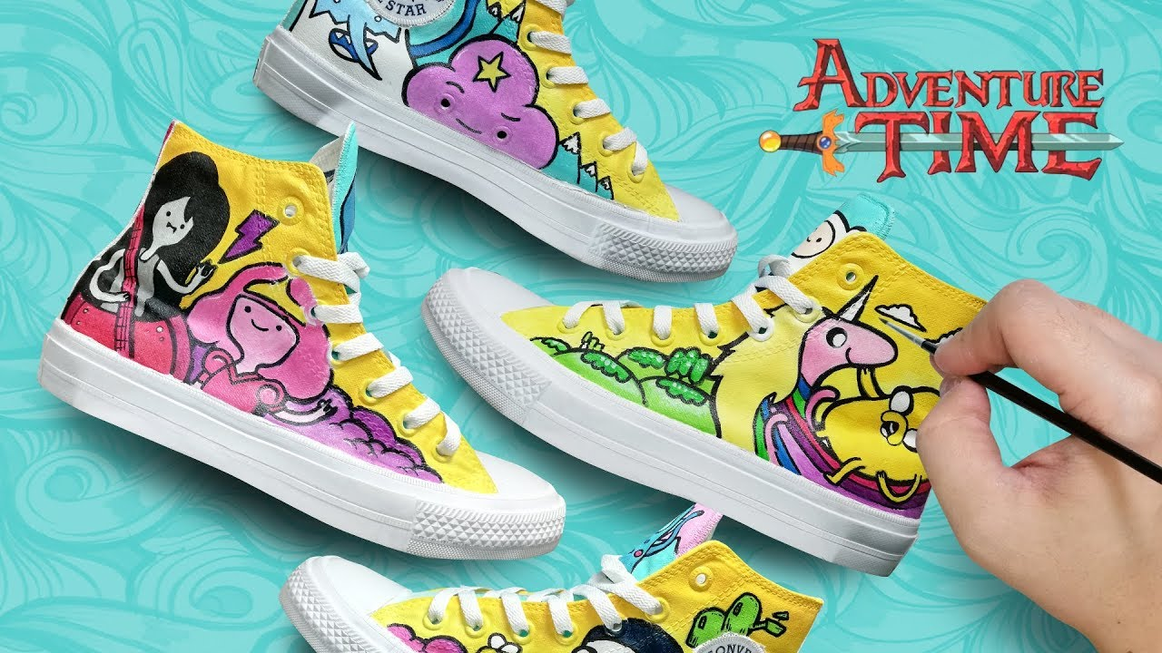 ca0e80a1133b ADVENTURE TIME  CONVERSE CHUCK TAYLOR CUSTOM - YouTube