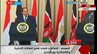 بالفيديو.. السيسي: مصر تهتم بالتبادل التجاري والاستثماري مع كينيا