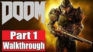 DOOM 2016 Gameplay Walkthrough Part 1 Multiplayer Beta XBOX ONE/PS4/PC DOOM 4