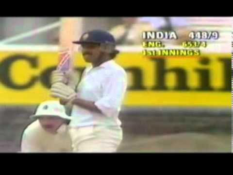 Kapil Dev 4 sixes in a row  (To avoid Follow On)