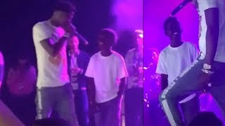 NBA Youngboy brings young fan on stage to perform