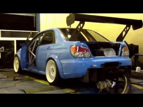 07 Subaru Impreza with KAPS Sequential Gearbox on the dyno