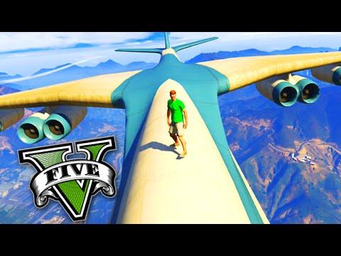 GTA V Online: CARGO PLANE! Andando a PÉ em cima do CARGO PLANE! (GTA 5 PS4)