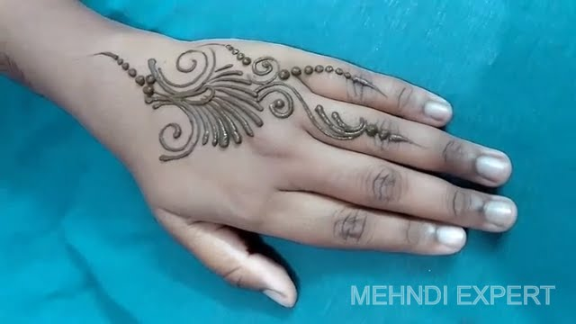 easy small and beautiful mehndi design patch or tattoo YouTube