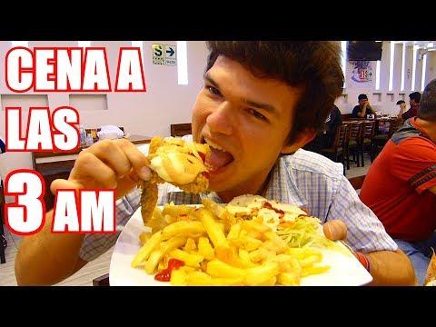 Cena a las 3 AM Pollo Broaster Peruano - jose angel en PERU MUKBANG