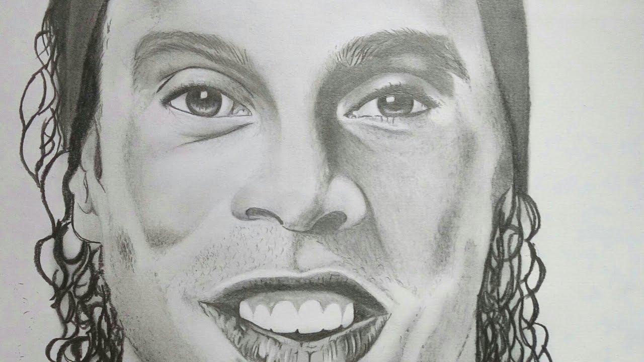 Desenho Realista Ronaldinho Gaúcho Youtube
