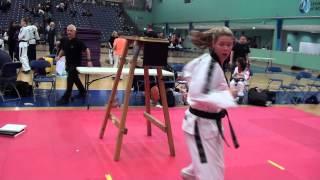 2014 TAGB British Taekwondo Championships Chloe Lock destruction