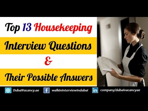 Housekeeping Jobs in Dubai & UAE Offering Good Salary (Sept