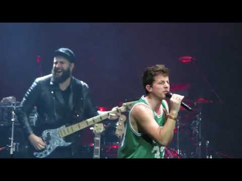 """Charlie Puth performs """"Attention"""" at the Boston Garden on 23rd Aug 2017"""