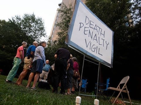 Death Penalty Vigil during Stephen Michael West's execution