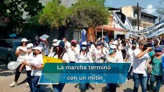"""Esta mañana se realizó la """"Marcha Por Cabeza"""" en respaldo al gobernador de Tamaulipas, Francisco García Cabeza de Vaca, ante el proceso de solicitud de desafuero en la Cámara de Diputado"""