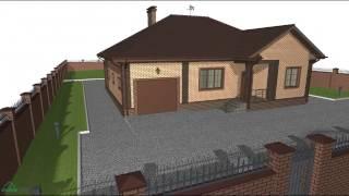 Типовой проект одноэтажного дома с гаражом «Удобный+»   B-080-ТП(, 2016-10-24T13:00:10.000Z)