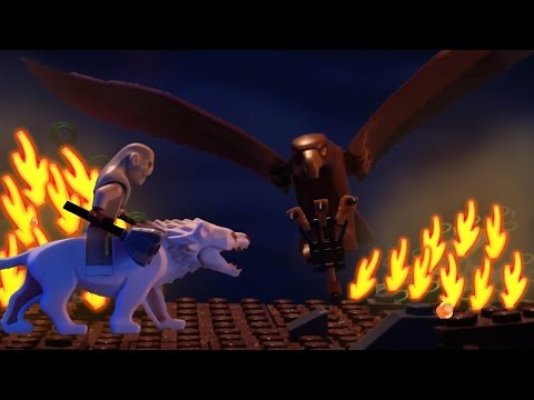 LEGO The Hobbit Attack of the wargs brickfilm