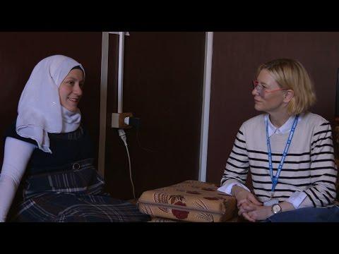 UNHCR Goodwill Ambassador Cate Blanchett visits refugees in Jordan