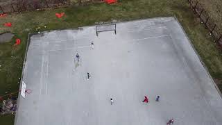 from drone how kids play football