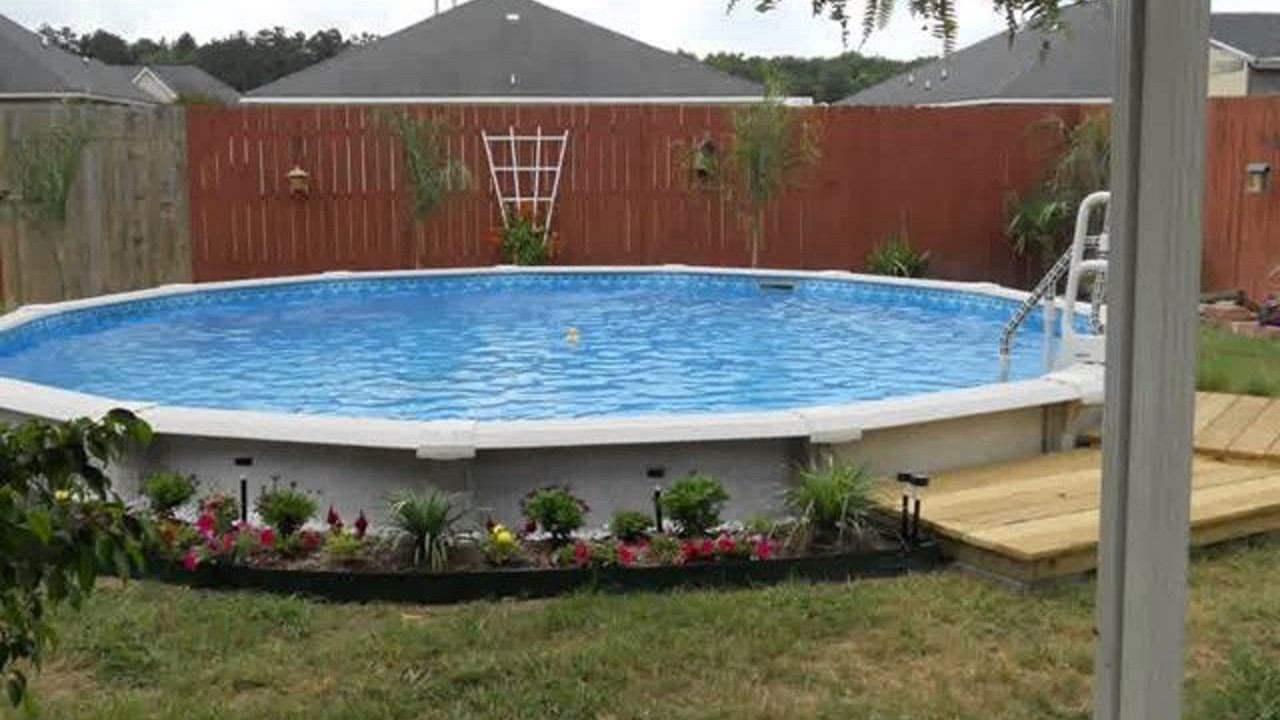 above ground pool landscape design ideas youtube. Black Bedroom Furniture Sets. Home Design Ideas