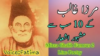 Mirza Ghalib Famous Poetry Collection In Urdu | Mirza Ghalib 2 Line Poetry In Urdu | Rj Fatima screenshot 2