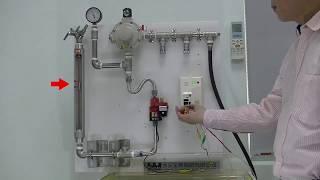 城安複合式瓦斯安全閥+瓦斯警報器 中壓大流量測試影片 gas safety device