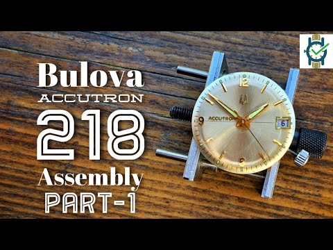 Bulova 218 Accutron Tuning Fork Watch - Assembly Part 1