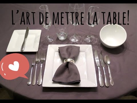 l 39 art de mettre la table youtube. Black Bedroom Furniture Sets. Home Design Ideas