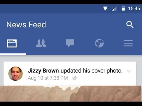 Facebook Status Bar