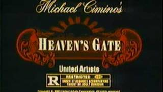 Heaven's Gate rare 1980 TV trailer