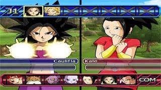 Dragon Ball Z Budokai Tenkaichi 3 - Caulifla SSJ  Vs Kyabe , Kale SSJ Legendaria ,Jiren ,Hit MOD PS2