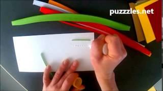 Как крепить полоски в контурном квиллинге