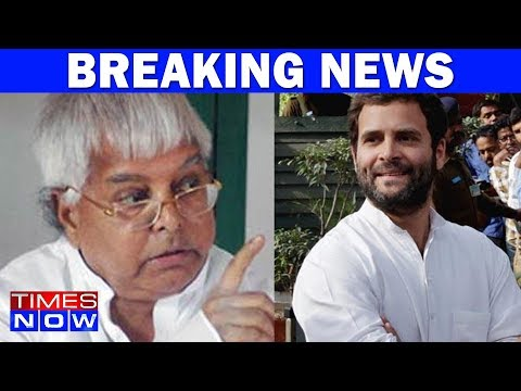 No Rahul Gandhi In Lalu Prasad Yadav's 2019 Election Plans